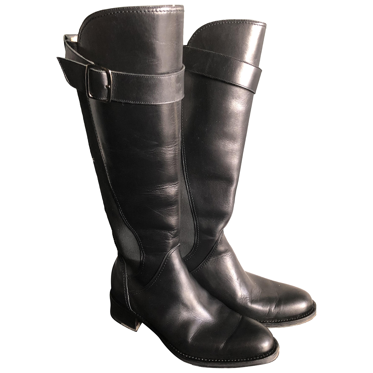 Paraboot \N Black Leather Boots for Women 37 EU