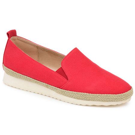 Journee Collection Womens Leela Slip-On Shoe Round Toe, 6 Medium, Red