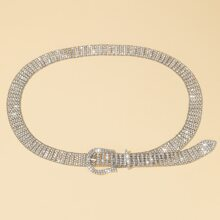 Rhinestone Decor Belt