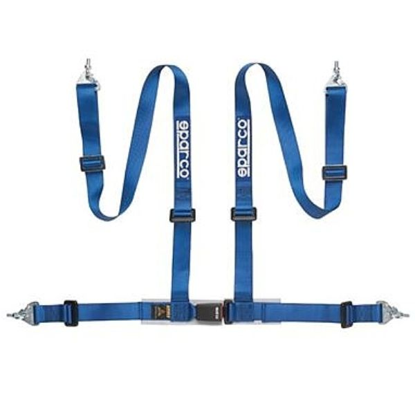 Sparco 04604BM1AZ 2-Inch Tuner 4-Point Snap-In Harness Blue