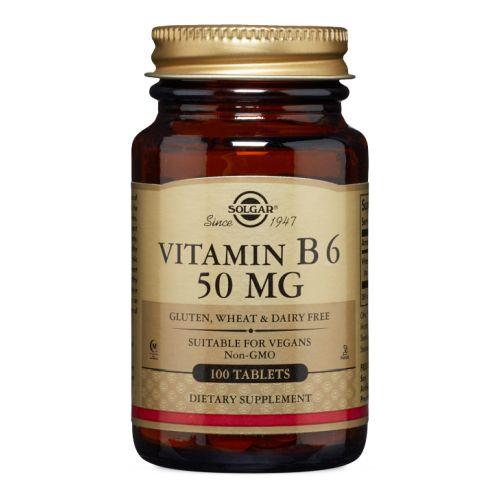 Vitamin B6 100 Tabs by Solgar