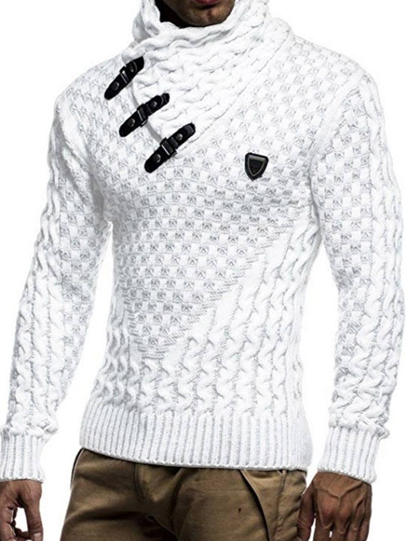 Ericdress Plain Turtleneck Casual Men's Sweater