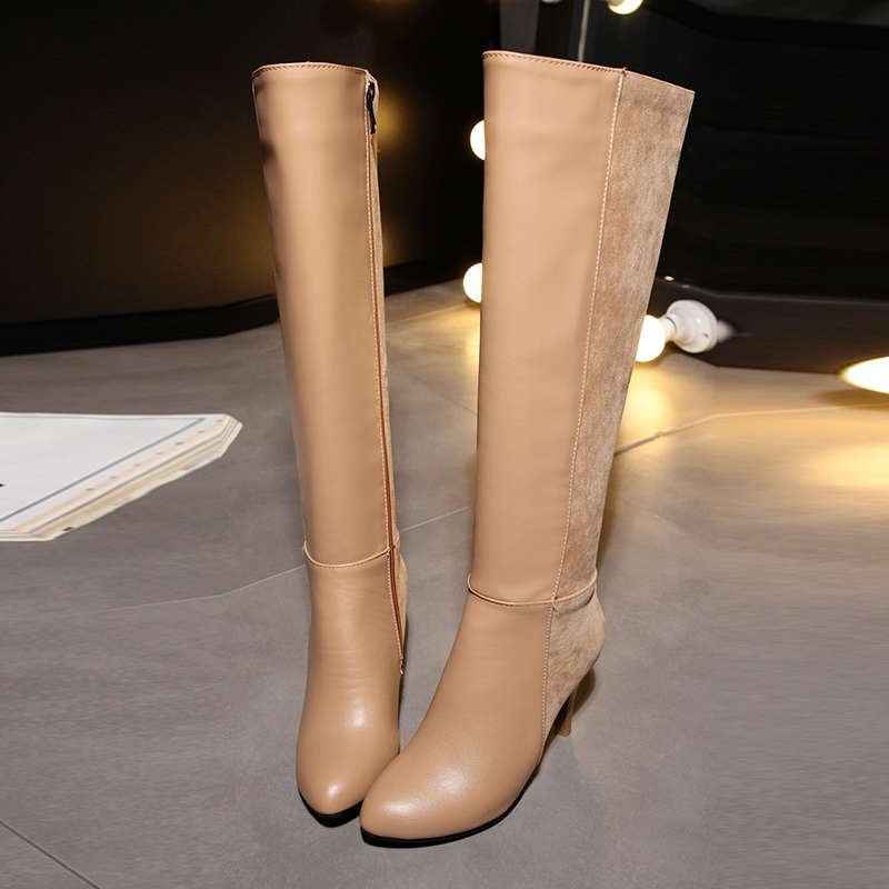 Ericdress All Match Plain Stiletto Heel Knee High Boots