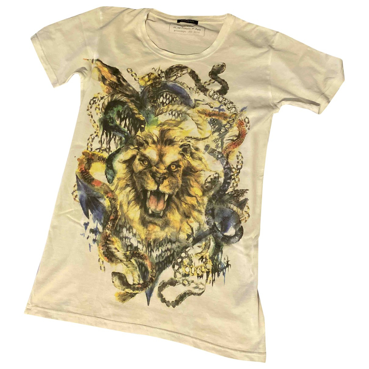 Balmain \N Beige Cotton T-shirts for Men S International