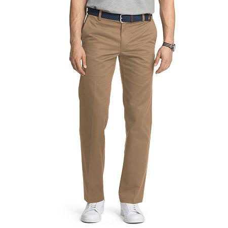 IZOD American Chino Mens Slim Fit, 34 32, Beige