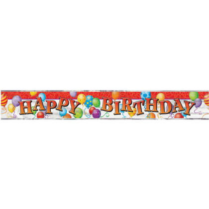 Aluminium joyeux anniversaire ballons bannière pour la décoration de fête à la maison, 12 pieds Pour la fête d'anniversaire