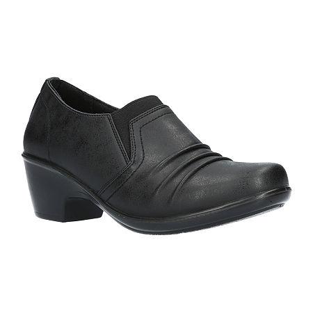 Easy Street Womens Kesley Clogs, 8 1/2 Wide, Black