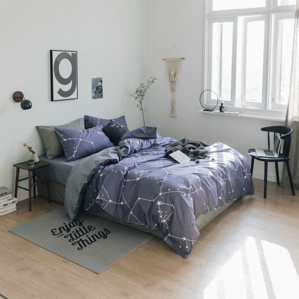 Minleaf IKEA Style 100% Cotton Bed Sheets Softest 3 Styles Bedding Sets Collection Deep