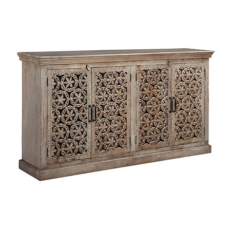 Signature Design by Ashley Fossil Ridge Console Table, One Size , Brown