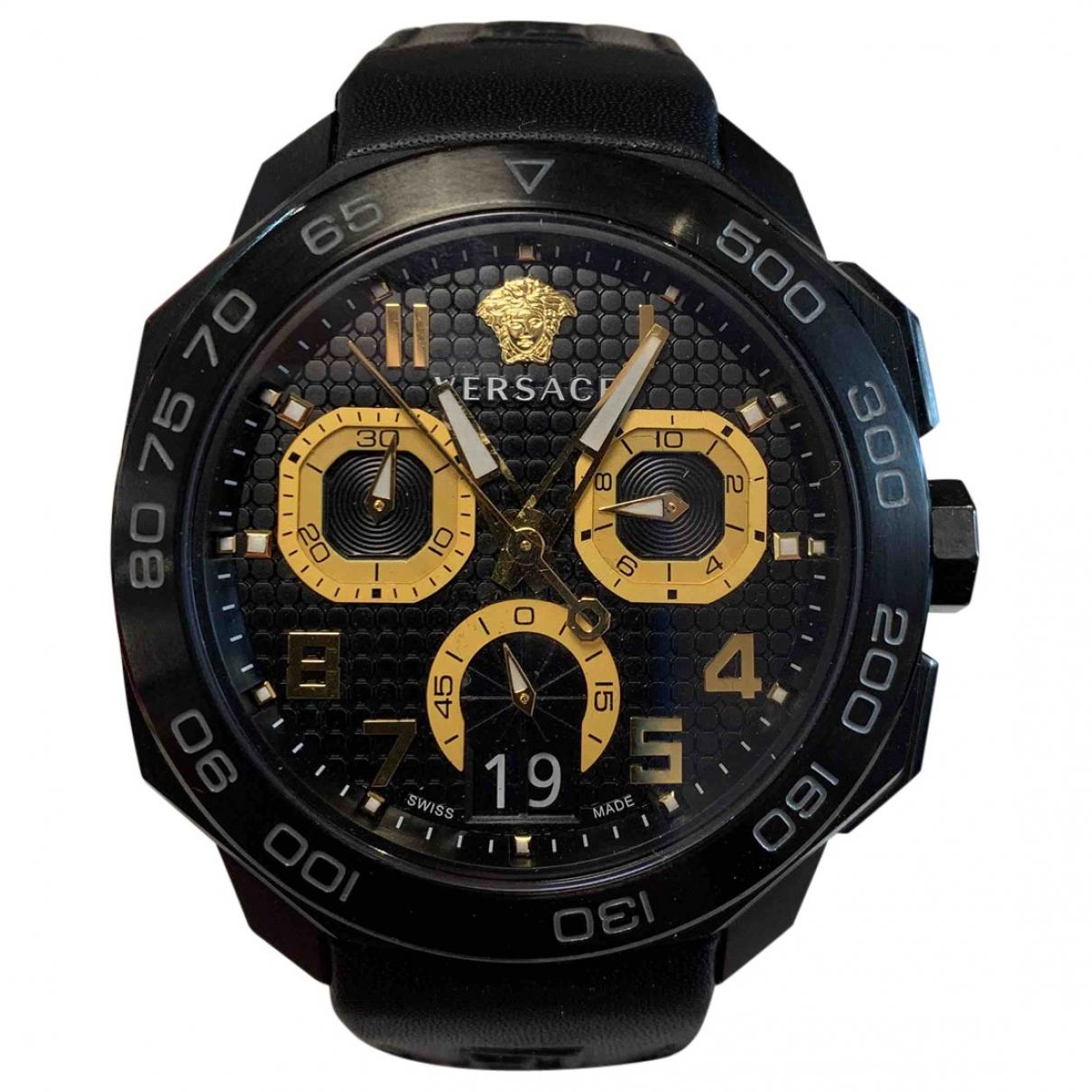 Versace \N Black Steel watch for Men \N