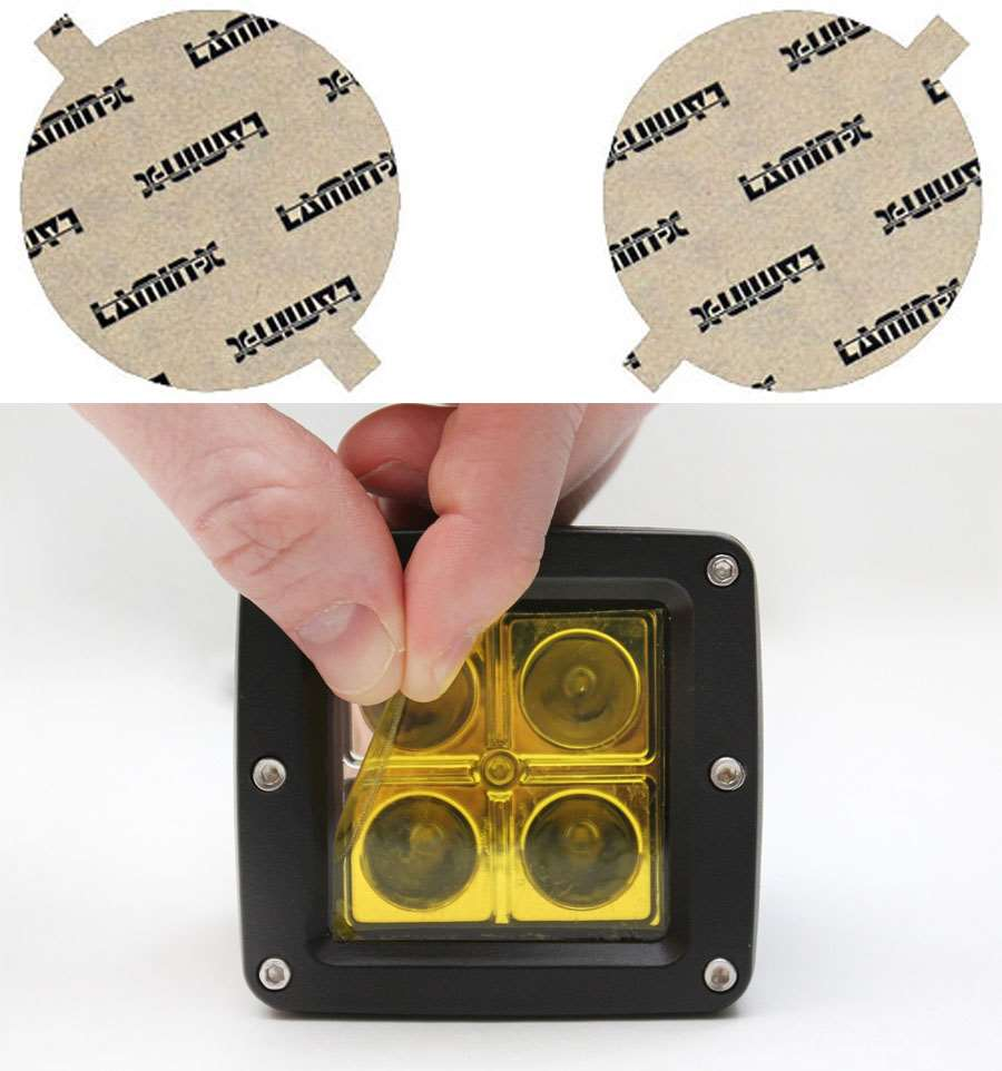 Ford F-150 06-08 Round Yellow Fog Light Covers Lamin-X F407Y