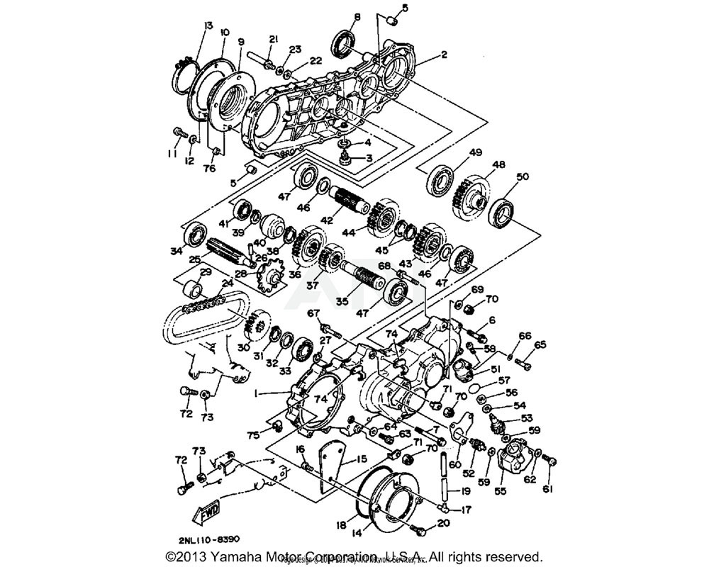 Yamaha OEM 93306-20716-00 BEARING