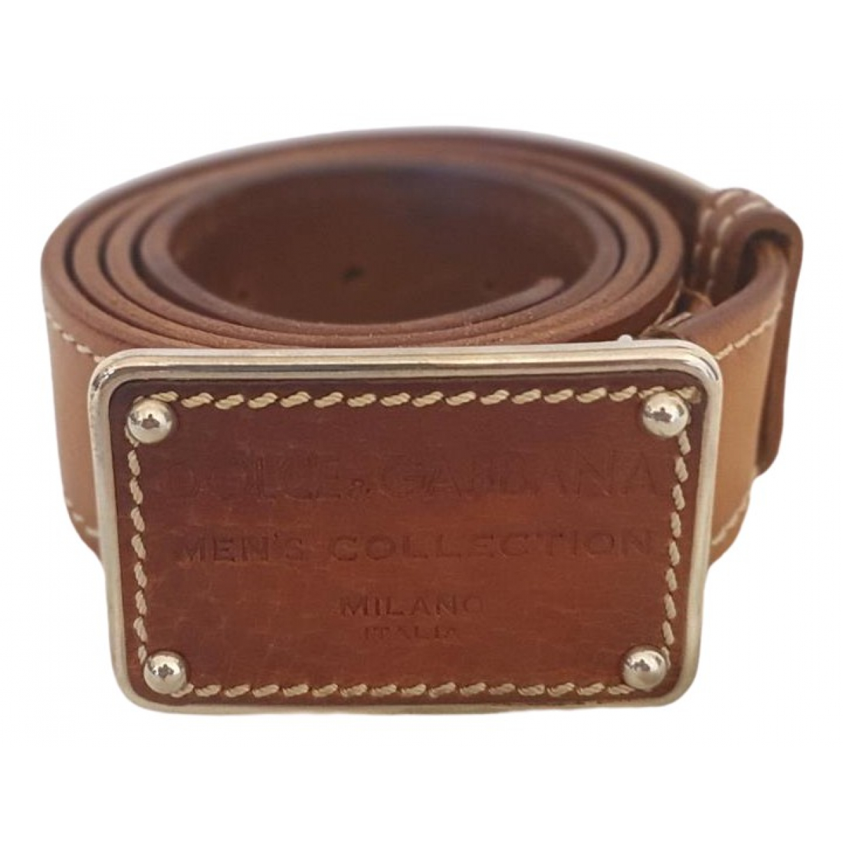 Dolce & Gabbana \N Brown Leather belt for Men 100 cm