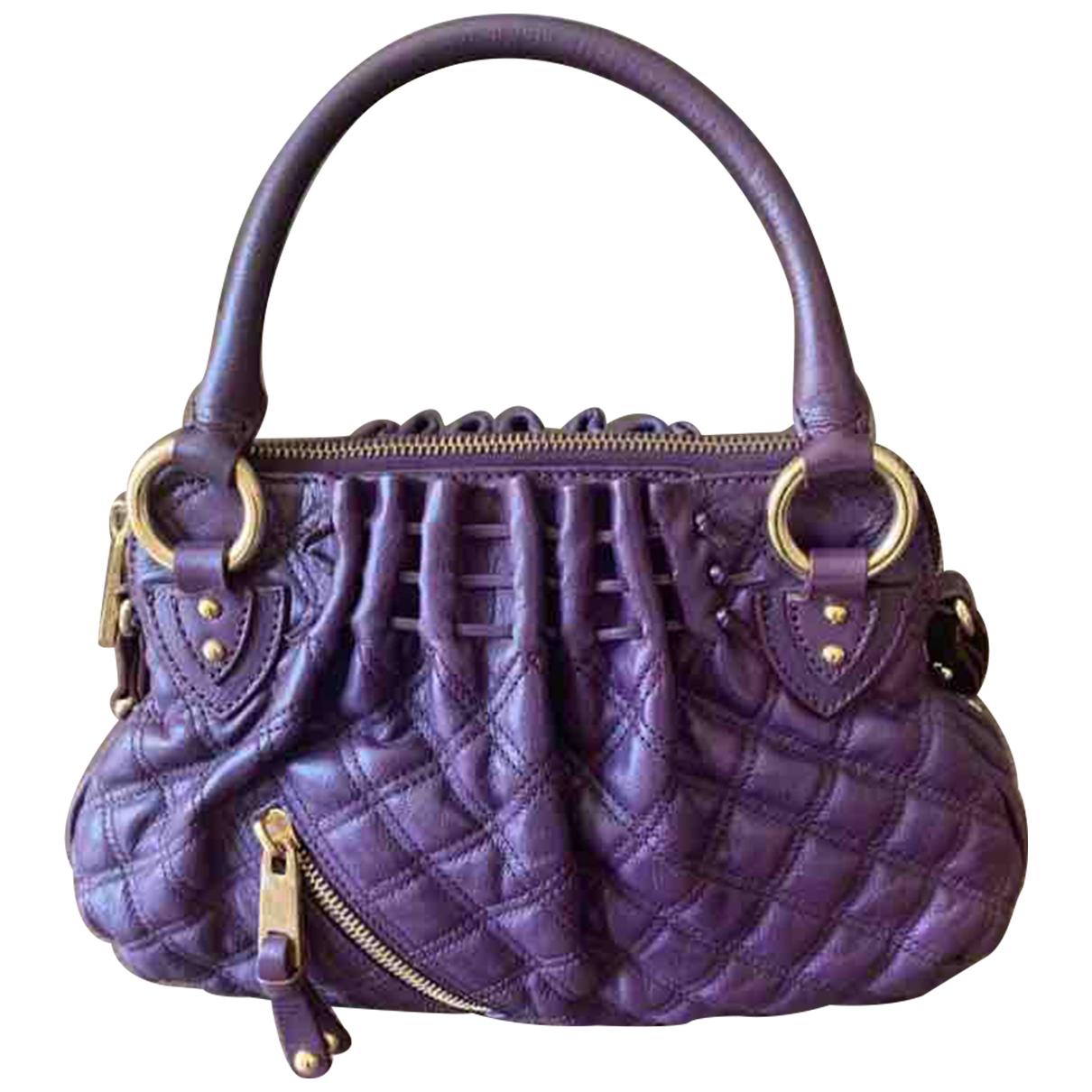 Marc Jacobs Stam Purple Leather handbag for Women \N