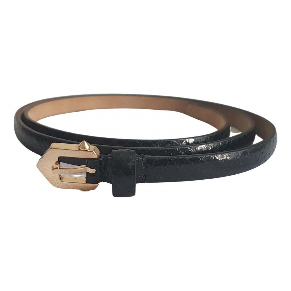 Givenchy \N Black Python belt for Women 80 cm