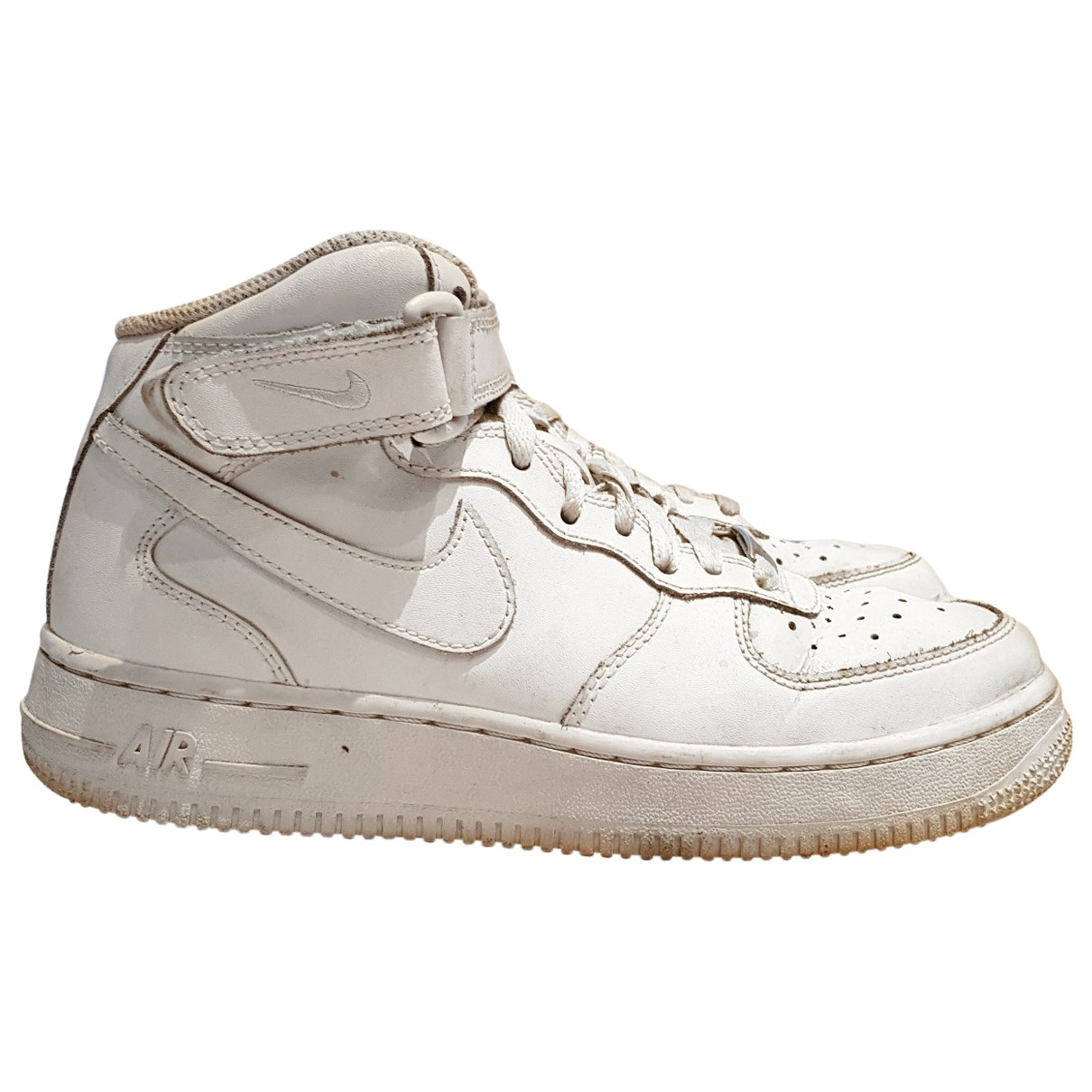 Nike Air Force 1 White Rubber Trainers for Women 38 EU