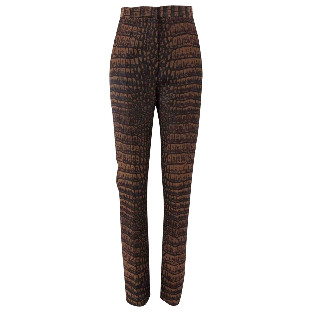 Stella Mccartney \N Brown Trousers for Women 38 IT