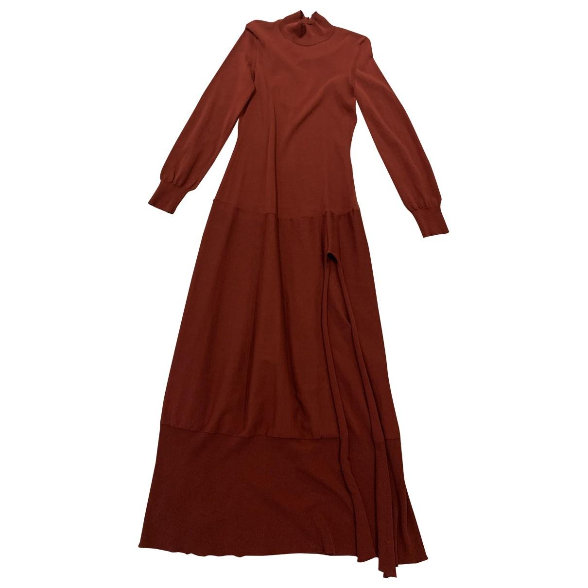 Jacquemus La Bomba Burgundy Cotton dress for Women 40 FR