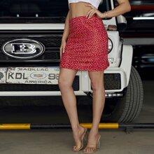 Confetti Heart Print Skirt