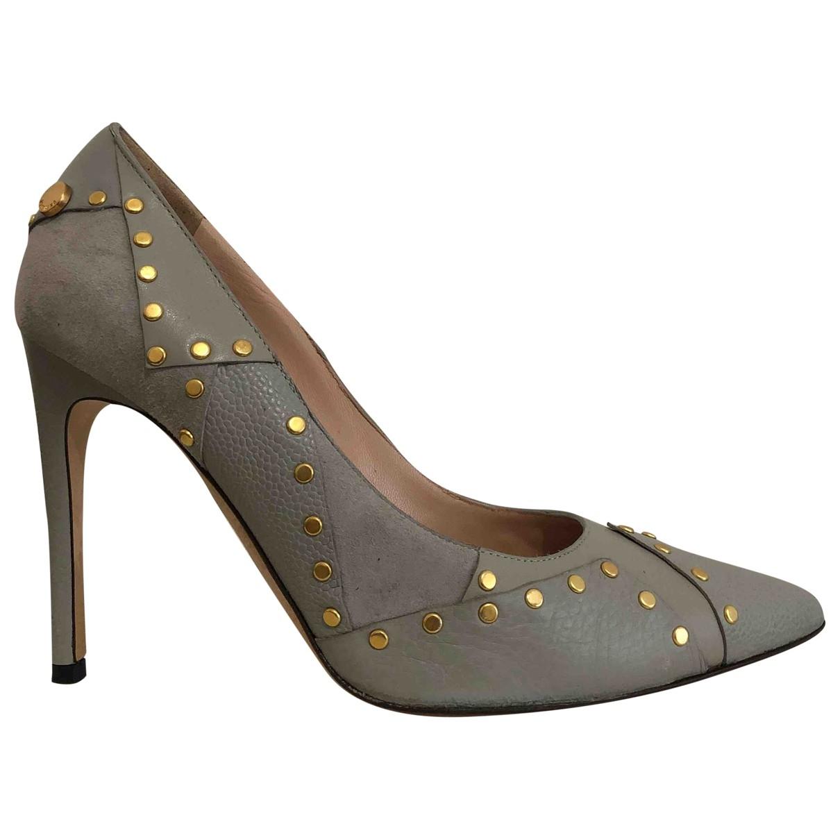 Moschino \N Grey Suede Heels for Women 37 IT