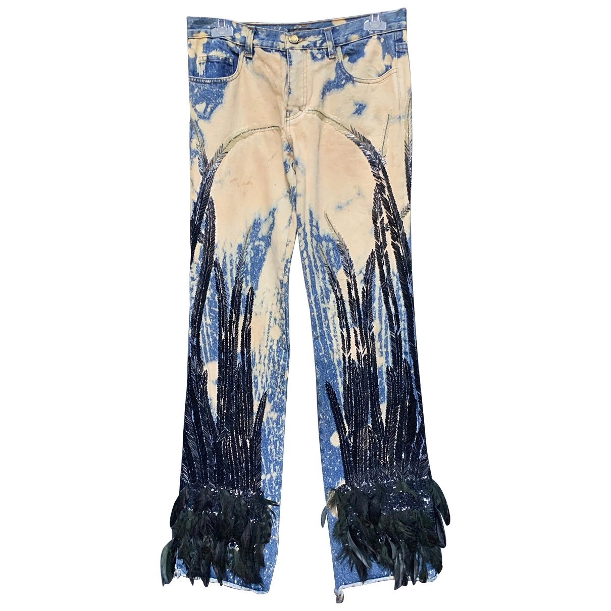 Roberto Cavalli \N Ecru Denim - Jeans Jeans for Women 40 FR