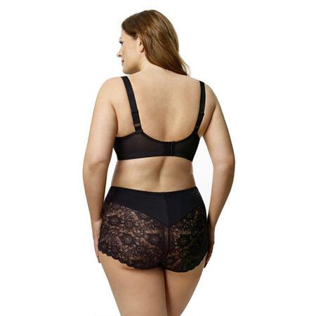 Elila Cheeky Stretch Lace Boy Short, 4x , Black