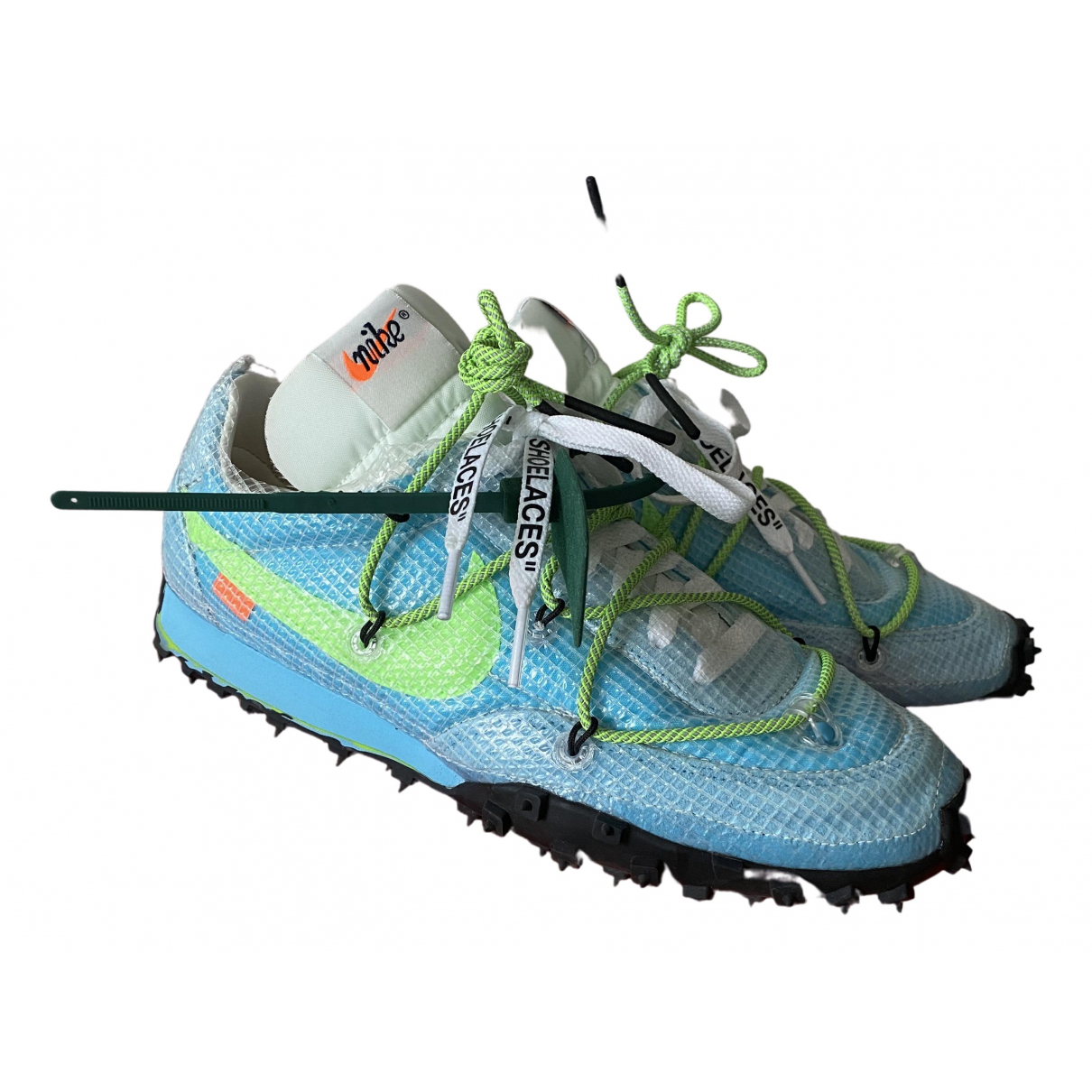 Nike X Off-white Waffle Racer Blue Trainers for Women 38.5 EU
