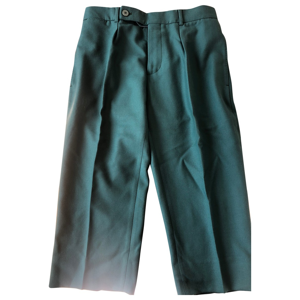 Carven \N Turquoise Cotton Trousers for Men 40 FR