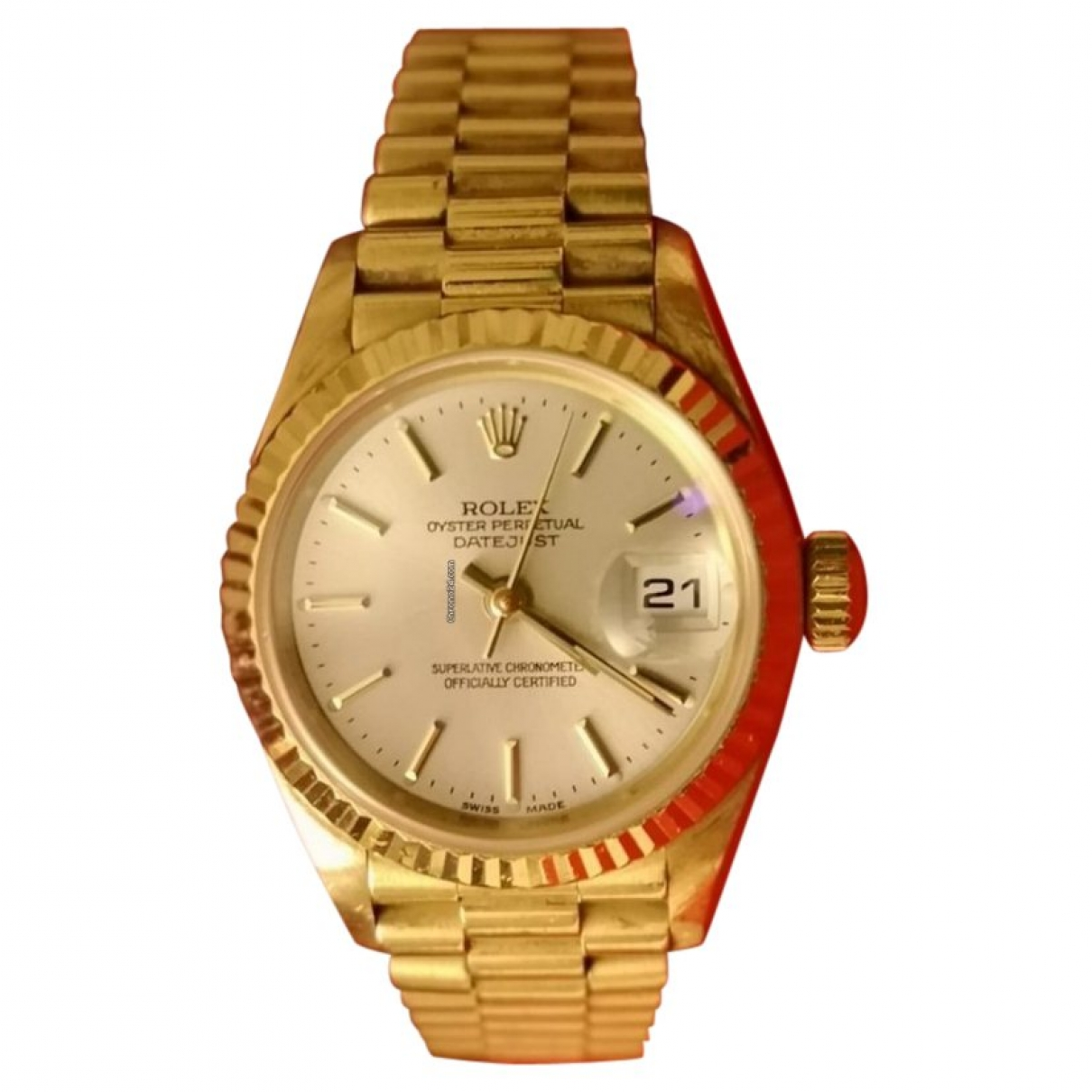 Rolex Lady DateJust 26mm Gold Yellow gold watch for Women \N