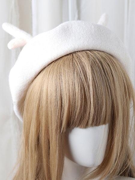 Milanoo Sweet Lolita Hat Reindeer Leaf Wool Lolita Beret