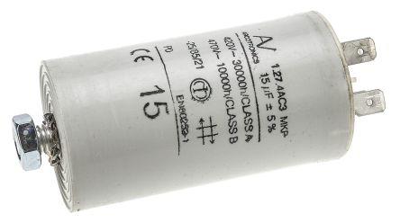 KEMET 15μF Polypropylene Capacitor PP 470V ac ±5% Tolerance Chassis Mount C27 Series