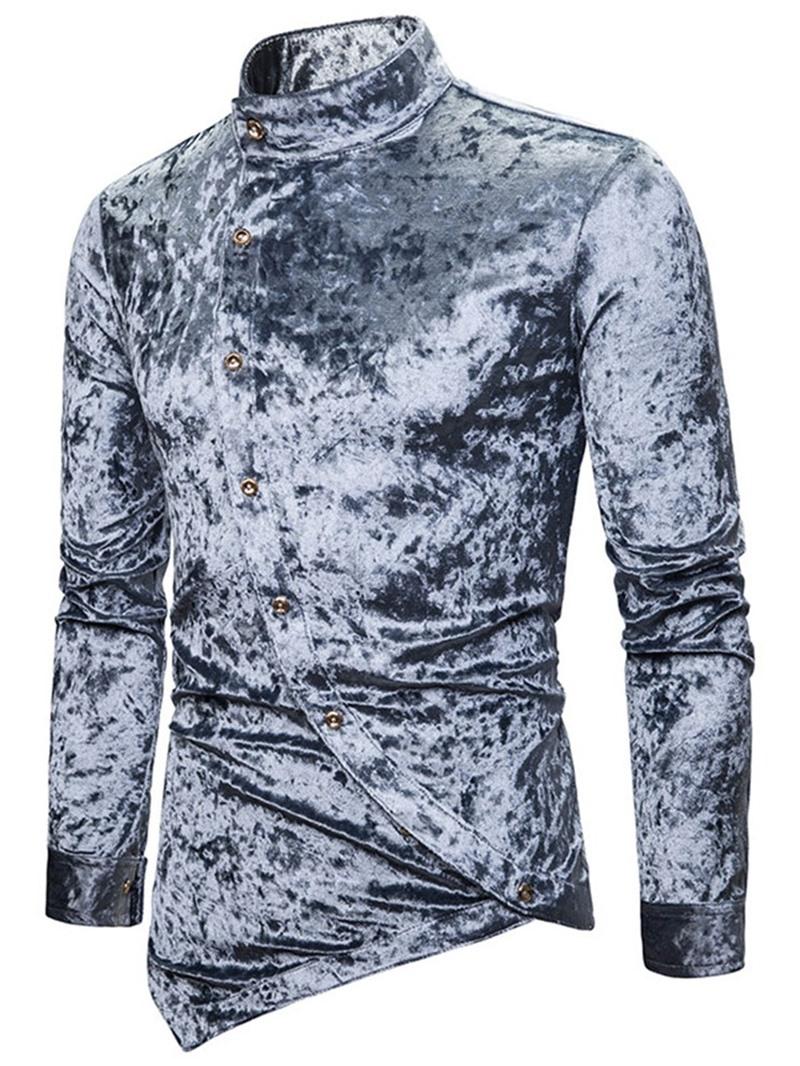 Ericdress Plain Casual Button Men's Slim Shirt