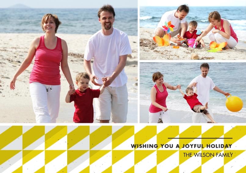 Christmas Photo Cards 5x7 Cards, Premium Cardstock 120lb, Card & Stationery -Joyful Wishes