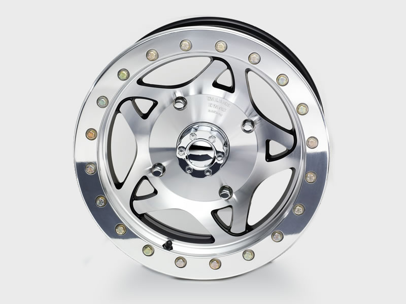 Walker Racing UTV Beadlock Racing Wheel Machined Finish w/ Black Accents 14x6 4x136.5 5.125
