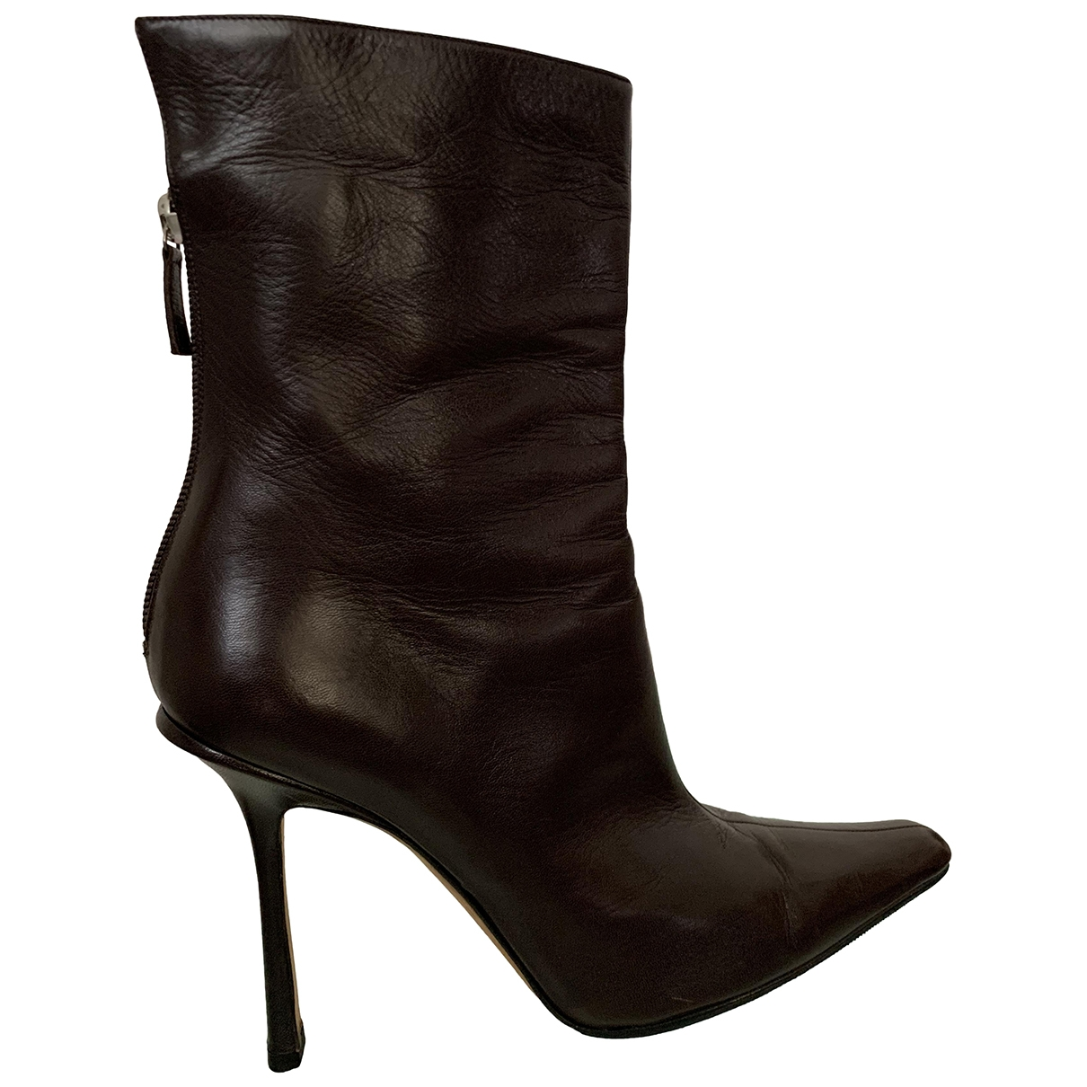 Jimmy Choo \N Brown Leather Ankle boots for Women 40 EU