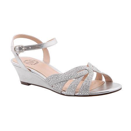 I. Miller Womens Fadila Pumps Wedge Heel, 6 Medium, Silver