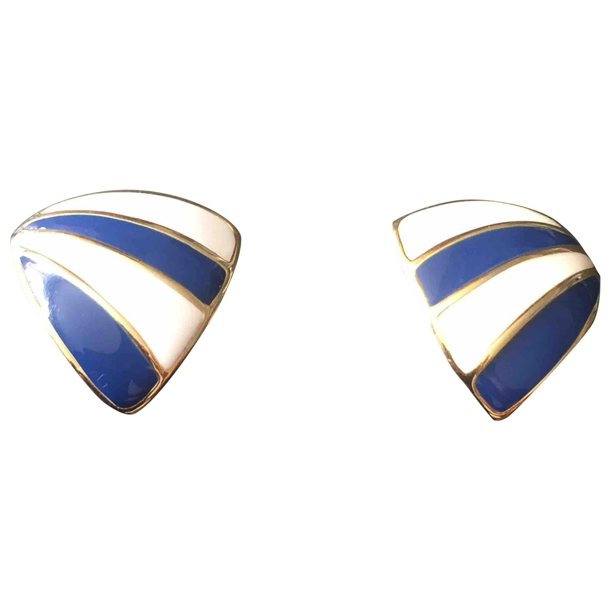 Non Signé / Unsigned \N Blue Metal Earrings for Women \N