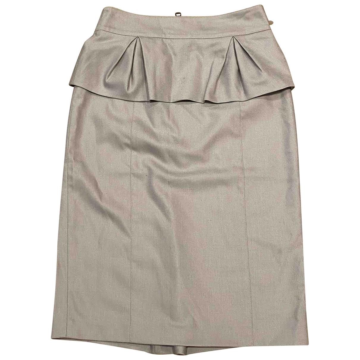 Burberry \N Grey Wool skirt for Women 38 IT