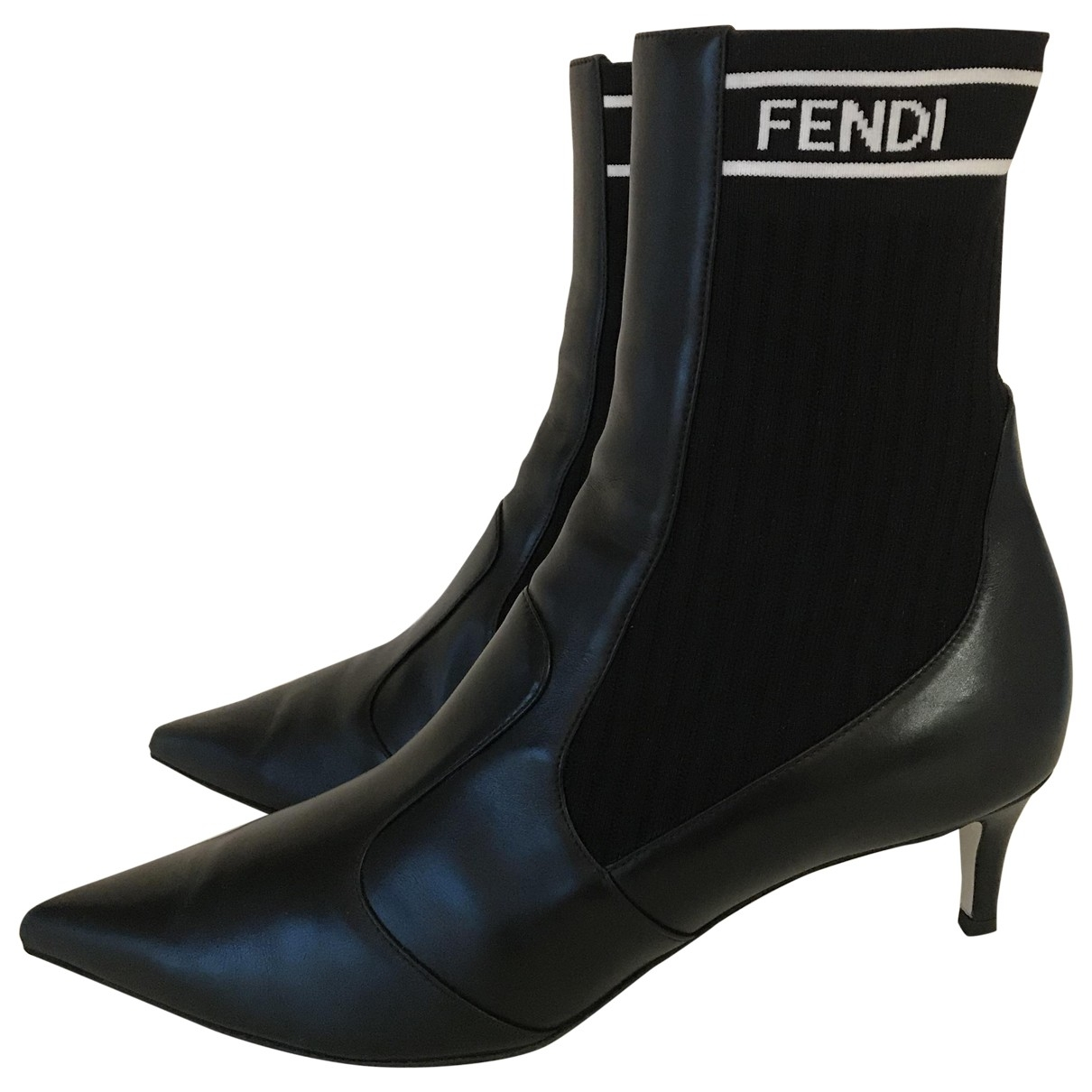 Fendi \N Black Leather Ankle boots for Women 40 EU