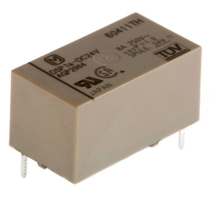 Panasonic , 24V dc Coil Non-Latching Relay SPNO, 5A Switching Current PCB Mount