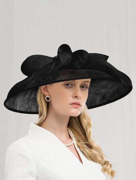 Milanoo Retro Hat Women Linen Ecru White Royal Hair Accessories Halloween