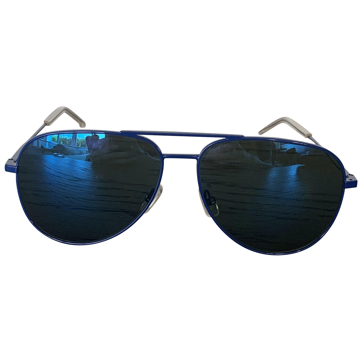 Saint Laurent \N Blue Metal Sunglasses for Women \N