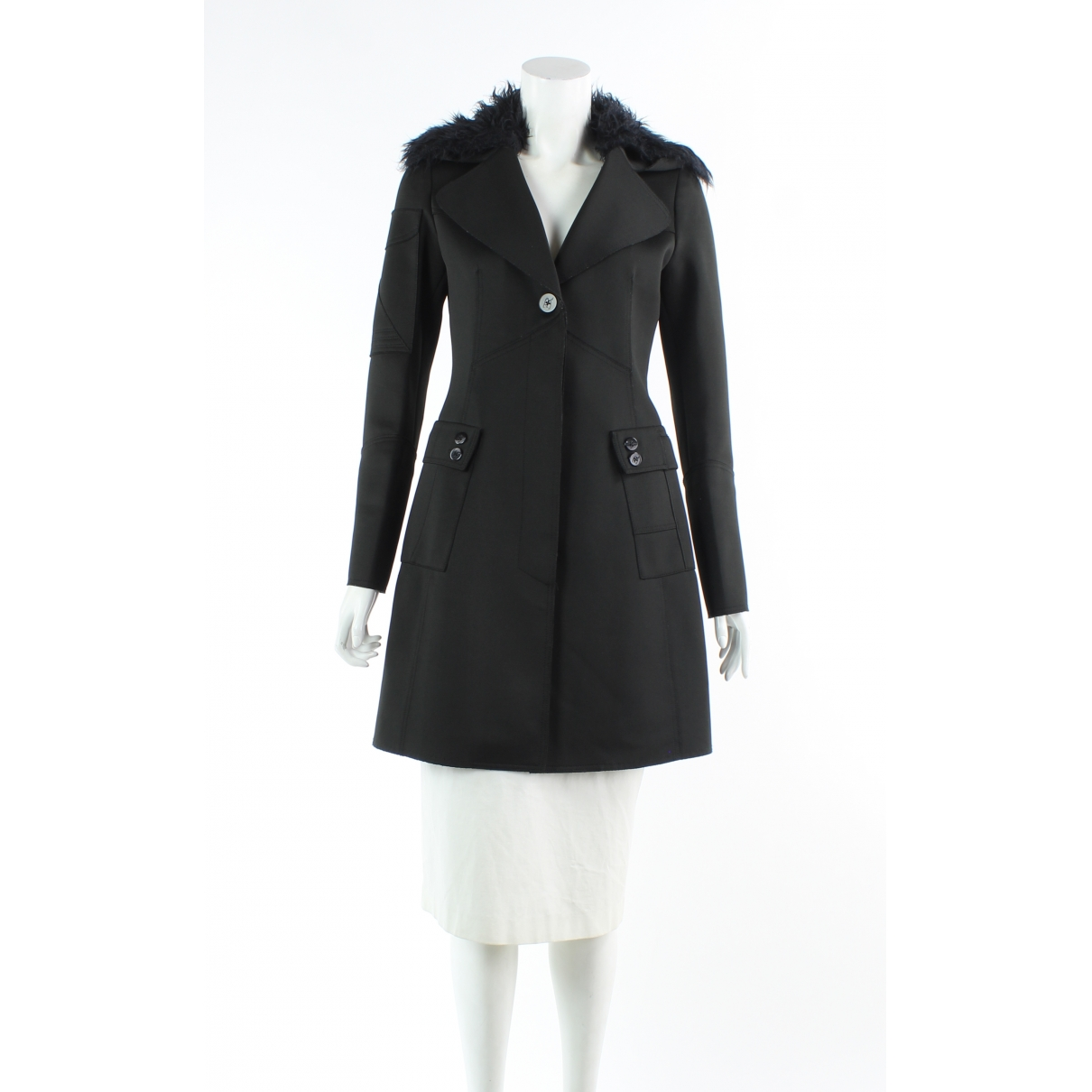 Ermanno Scervino \N Black coat for Women 40 FR