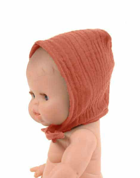 MiniKane Little Girl Doll Bonnet - Sienna