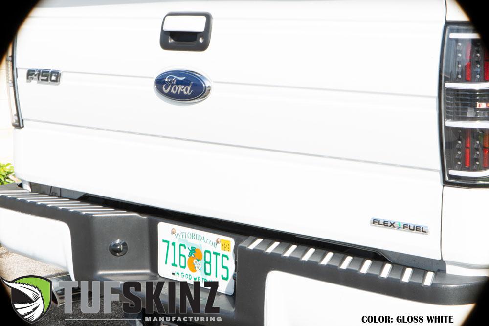 Tufskinz FRD021-WHT-G Rear Bumper Ridge Inserts Fits 09-14 Ford F-150 20 Piece Kit Gloss White