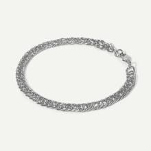 Men Textured Chain Bracelet