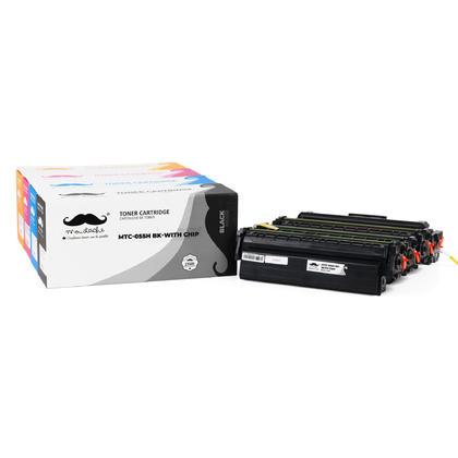 Canon 055H cartouche de toner compatible combo haute capacité BK/C/M/Y - avec puce - Moustache®