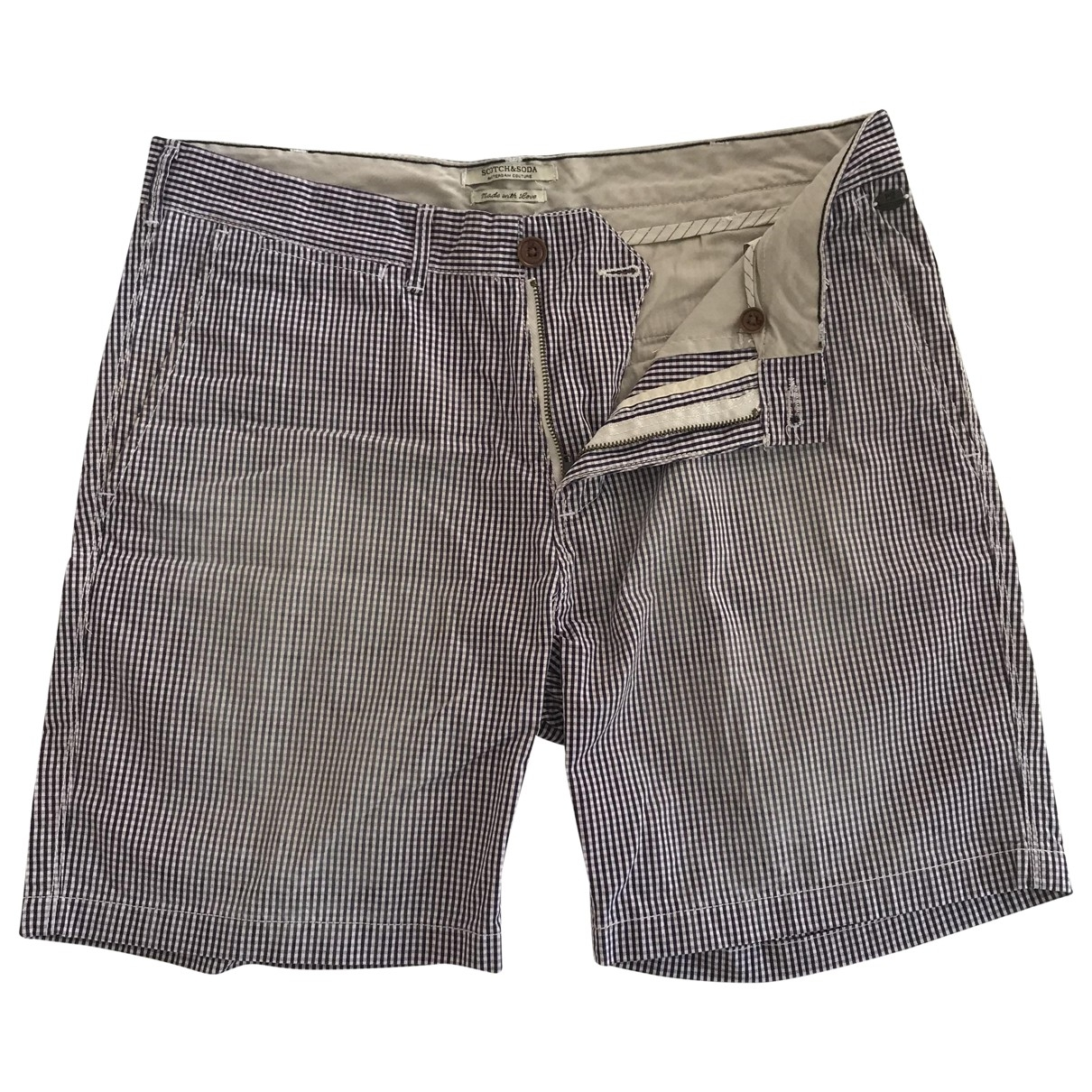 Scotch & Soda \N White Cotton Shorts for Men 32 UK - US