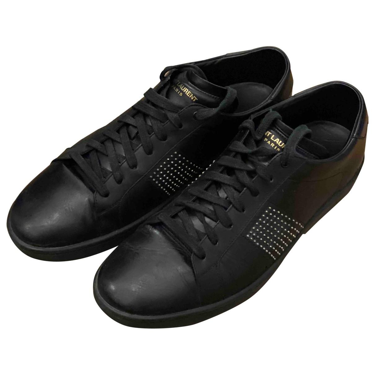 Saint Laurent SL/01 Black Leather Trainers for Men 44 EU