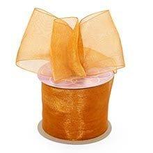 Butterscotch Shimmer Sheer Organza Ribbon - 5/8 X 25yd - by Paper Mart